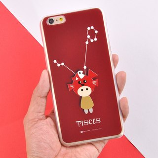 12 Constellation Character Phone Case iPhone X, 8/8 Plus, 7/ 7 Plus Case Pisces