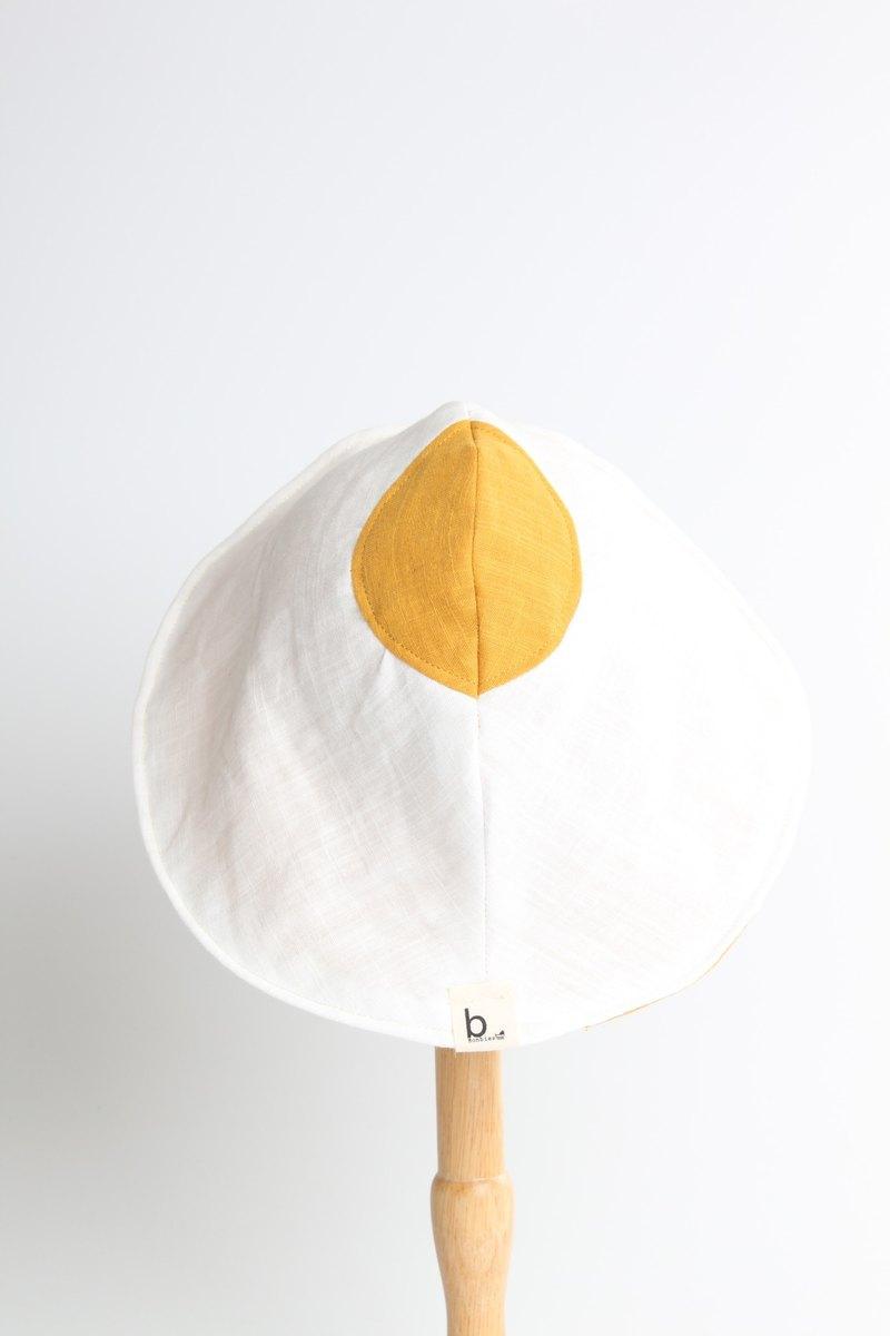 Bonbies手工製帽子.日本純棉純色雙面二重紗布.太陽蛋漁夫帽