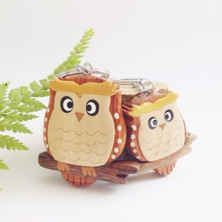 【Handmade Wooden Owl Key Ring / Charm】 ✦ March