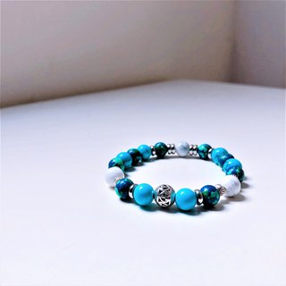 Blueberries Earth Pine Bluestone Bracelet