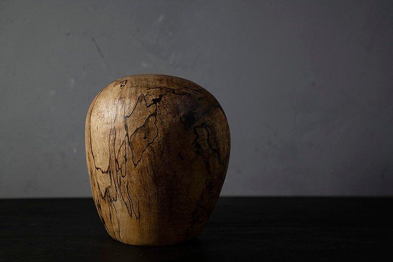 手工木製花器花瓶插花花藝擺飾016號大葉楨楠漬紋木