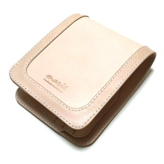 Marie / Mary genuine leather made leather half wallet / two fold wallet