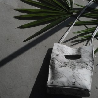 WHITE MARBLE BOX BAG