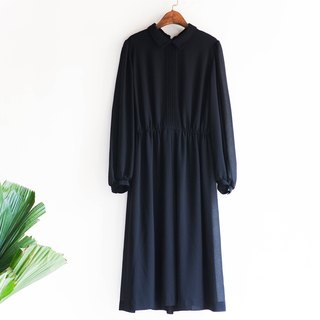 River water mountain - Kagoshima pure black fine fine lines fine young girls antique silk dress overalls oversize vintage dress