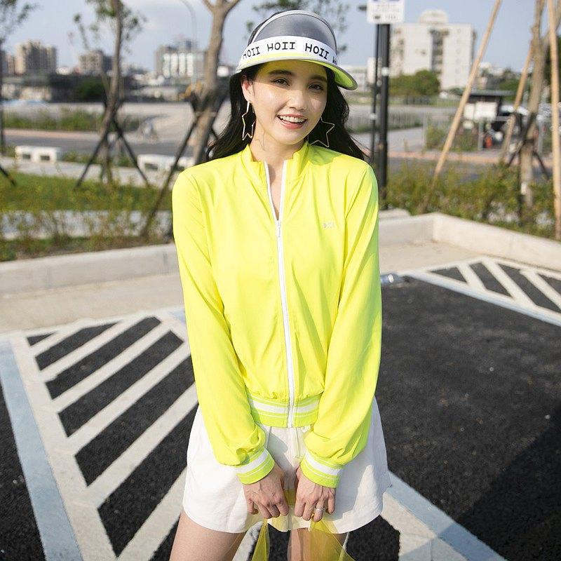 【HOII后益】防曬HOII復刻拉鍊外套-女款-黃