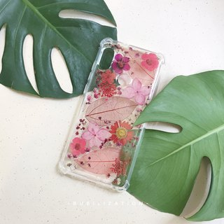 Girls love RED :: pressed flowers Iphone case