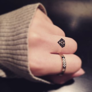 TOOD Tattoo Sticker | Finger Location Small Diamond Tattoo Sticker (6 pieces)