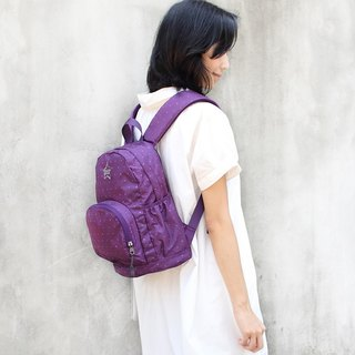 Stars~Mini water resistant backpack(12'' Laptop OK)-Purple_100368-40