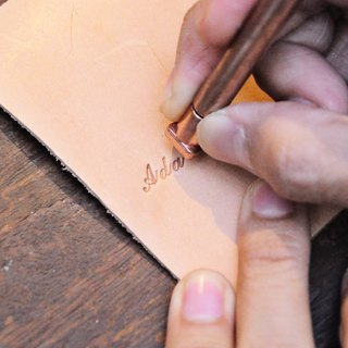 Even classic digital illegible lower case capitalization + imprint set (gift box) embossing die letters personalized leather embossed lettering leather DIY