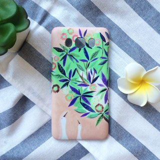 Gooses' date under the colorful flowers tree(Brown). Matte Case (iPhone, HTC, Samsung, Sony)