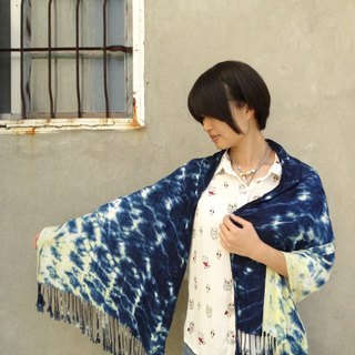 Plant Stain/Color Stain - Scarf (Blue Grass + Fu Mu)