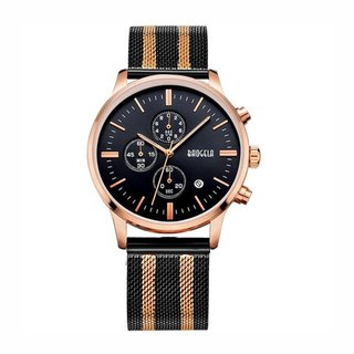 STELVIO Rose Gold Black Dial / Rose Gold Black Milan Watch Adjustable Watch