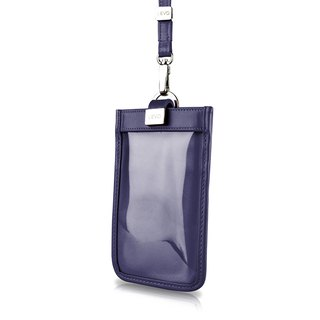 [LIEVO] TOUCH - Neck-mounted leather mobile phone case_Midnight Blue 5.7