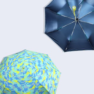 【Taiwan's Cultural Rain's talk】 anti-summer camouflage anti-UV fold automatically open umbrella