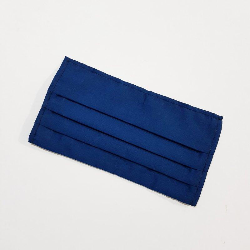 【素色-深藍】 棉質口罩套 成人 透氣薄棉布 20天出貨 可寄國外
