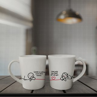 CALLING NAMES Couple Coffee Mugs (FREE HAND CREAM)
