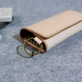 YOURS double fold double sandwich key case K17 original leather color leather