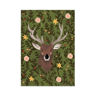 Deer in the Woods Art Print
