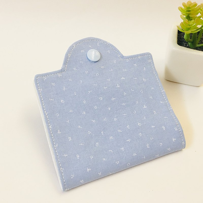 letter氣質藍。口罩收納夾。可掛式