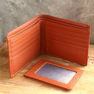 Leather Wallet - Bifold Plus - Tan (Genuine Cow Leather) / Small Wallet