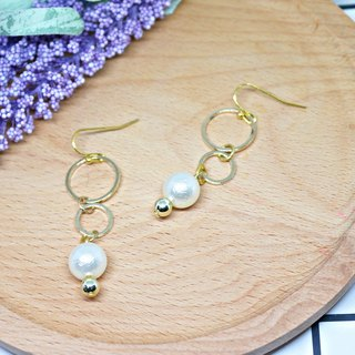 Alloy * circle you me * _ hook earrings