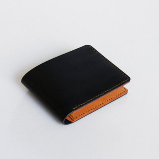 Italian vegetable tanned leather simple six-card short clip