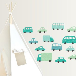 Roller cloth wall stickers (mint green)