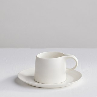[3, co] Kabuqinuo Cup and Saucer Set (2-piece) - White