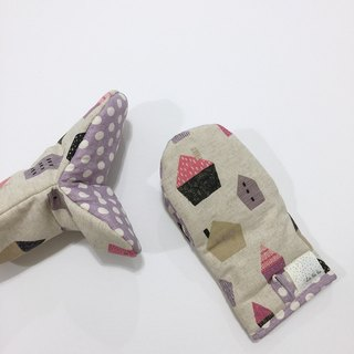 【La la la】 Small home with love insulation gloves / limited hand / kitchen baking goodies