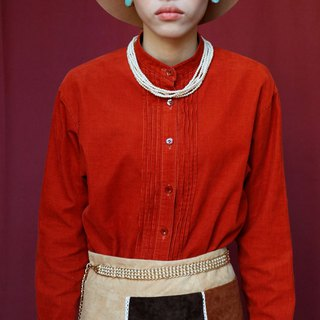 Pumpkin Vintage. Ancient round neck corduroy shirt