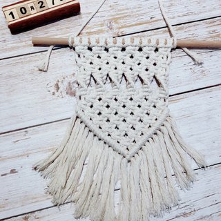 Hand-woven macrame bohemian fringed cotton living room bedroom decorative hanging wall hanging fabric