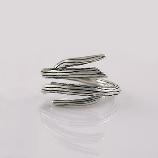 Branch Ring - Wrap Ring - Oxidized Sterling Silver - Adjustable Ring - Open Ring