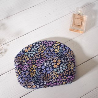 Mermaid series cosmetic bag / clutch bag / limited manual bag / psychedelic purple / pre-order