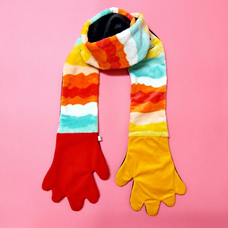 Mr.WEN  Gloves scarf –Hot dog