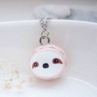 Fairy-tale animal sloth baby handmade cute necklace