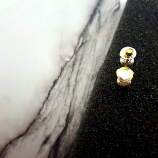 Local gold GG2 - custom English, digital - Royal 9999 pure gold combined with 999 sterling silver knocking ear
