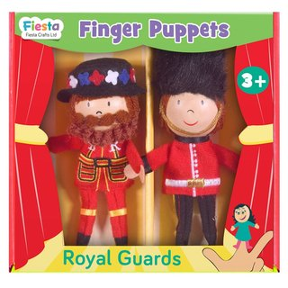 [UK Fiesta moving hands +] play creative team creative finger Royal guards even toys (+ group into two cartons)