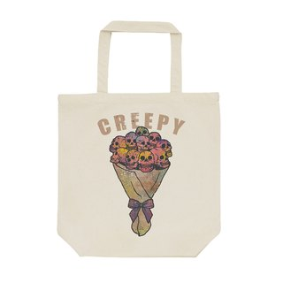tote bag / creepy flower