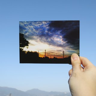 Quietly draw cool card / multifunctional storage postcard / sunset II