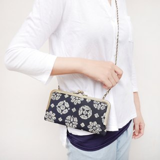 Staff straight shoulder bag shoulder bag / long clip / mobile phone package [Made in Taiwan]