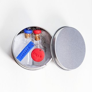 Weather bottle, snow crystal bottle special packaging small round metal box (goods without weather bottle, only a small round tin box)
