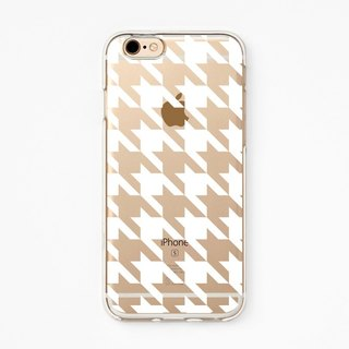 iPhone Case - Houndstooth for iPhones - Clear Flexible Rubber TPU case J30
