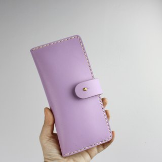 Zemoneni unisex leather purse Wallet in Light Purple color