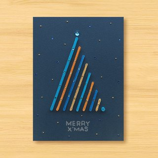 Handmade Roll Paper Cards_Starry Series_ Give you special Christmas wishes MERRY X'MAS