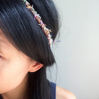 Super slim crochet headband  |  ethnic style  |  earth tone-light brown