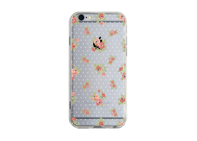 Ordered English garden (Polka Dot Camellia) transparent Samsung S5 S6 S7 note4 note5 iPhone 5 5s 6 6s 6 plus 7 7 plus ASUS HTC m9 Sony LG g4 g5 v10 phone shell mobile phone sets phone shell phonecase