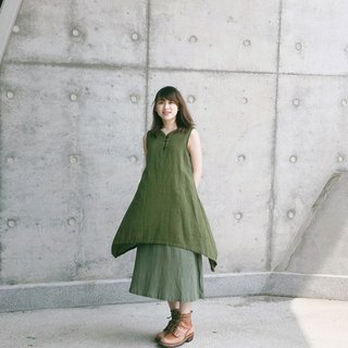 A little poetic hemp vest dress | grass color