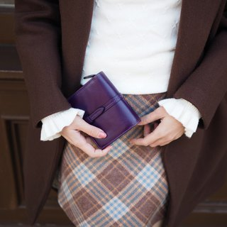 Charlotte: Mini wallet, Leather wallet, Purple wallet, folded wallet