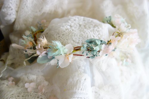 Wedding Floral Series - Sentimental Vine Garland (Peach Pink* Mint Green)