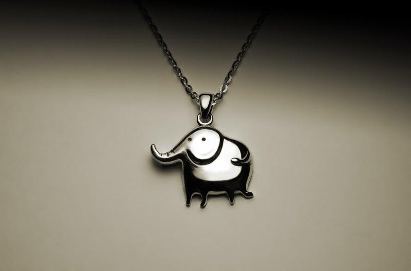 可愛大象項鍊